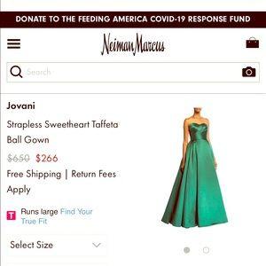 Emerald Green Jovani Dress